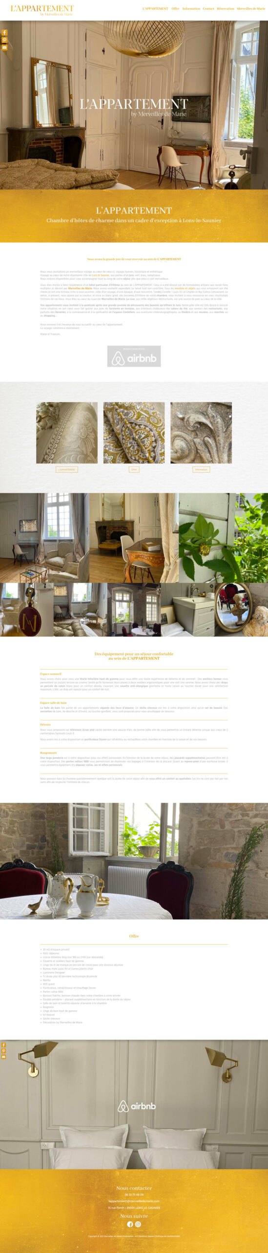 Site OnePage L'APPARTEMENT