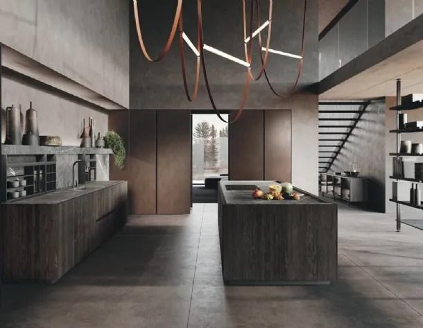 Per merito della funzionalità di questa proposta in legno, tra quelle con isola di scavolini, potrai organizzare al meglio lo spazio senza sminuire il valore estetico. Binova Kitchens Bluna Model