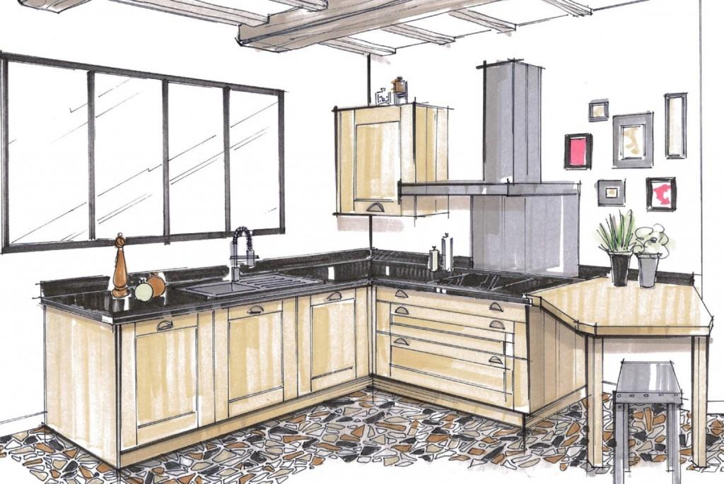 dessiner un plan de cuisine