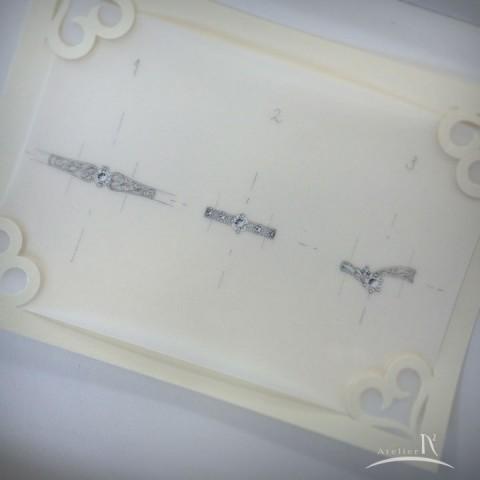 ダイヤモンドリングデザイン画