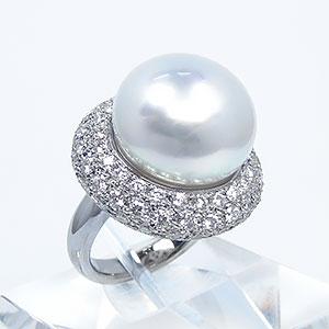 南洋白蝶パール ダイヤモンドリング