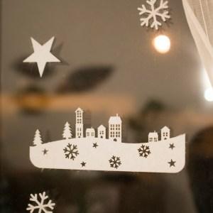 Village de Noël en feutrine
