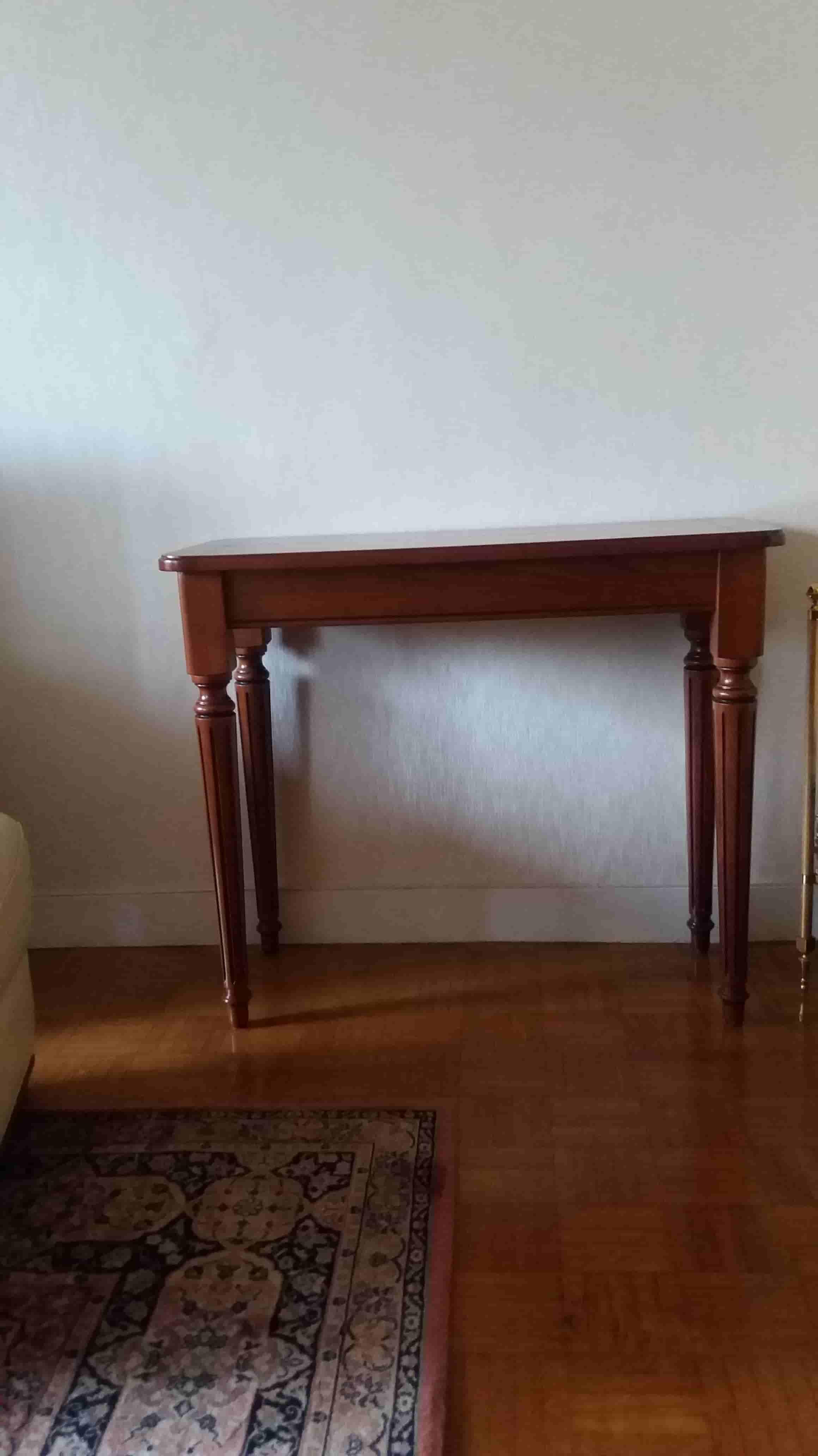 table console merisier massif