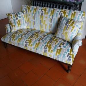 réfection complète d'un canapé
