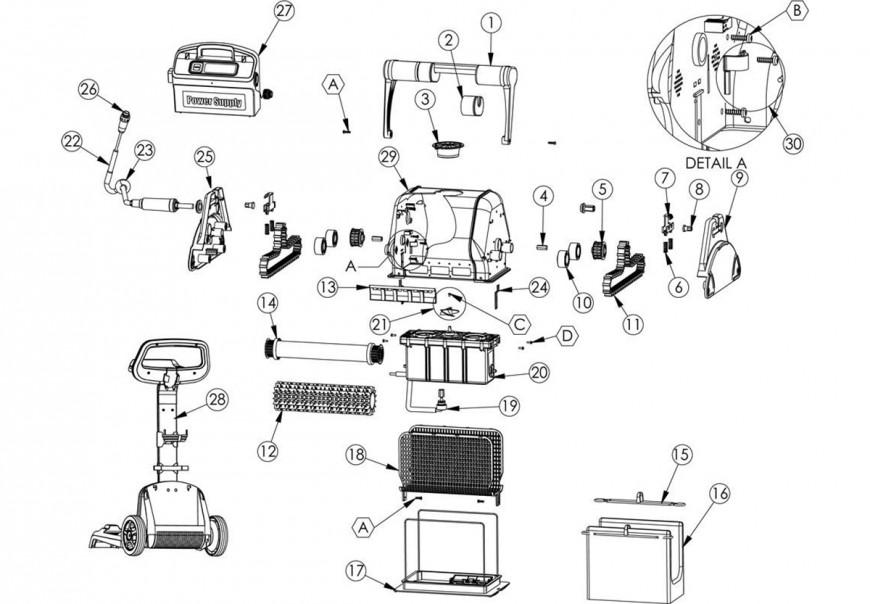 Vente de pièces détachées pour robot piscine Maytronics