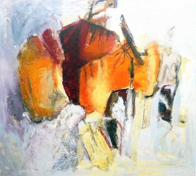 Aufbruch Acryl auf Leinwand, 110x100
