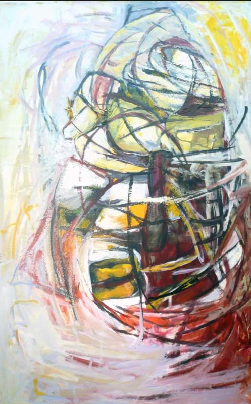 Kokon, Acryl auf Leinwand, 160x105