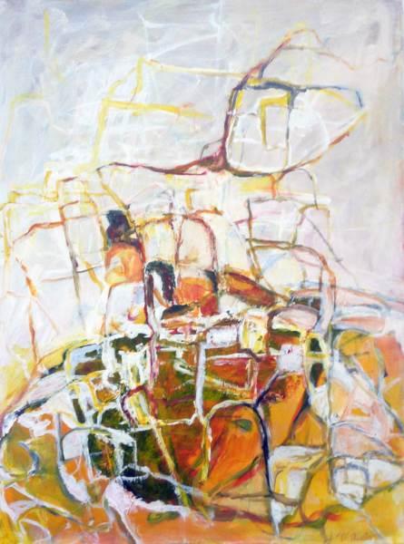 Wächter, Acryl auf Leinwand, 60x80
