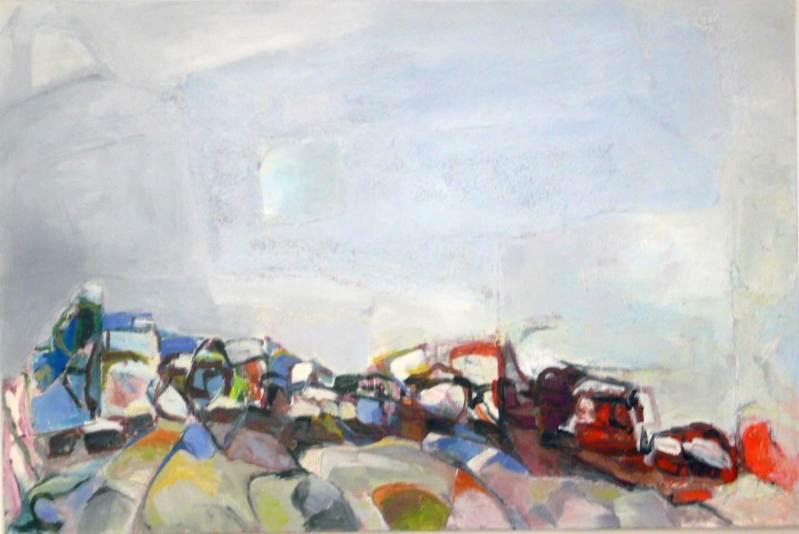 Weites Land, Acryl auf Leinwand, 140x160