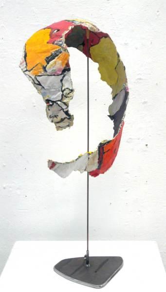 O.T. Papier, Acryl, Höhe 105cm