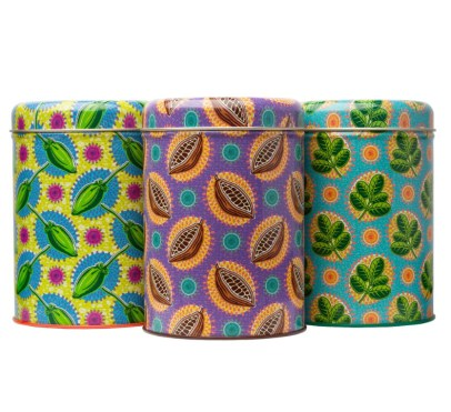 Aduna Boabab Pop Art and African Print Inspired Gift Tins