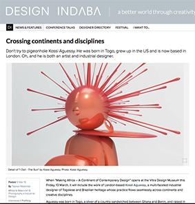 Tapiwa Matsinde Design Indaba designer and artist Kossi Aguessy