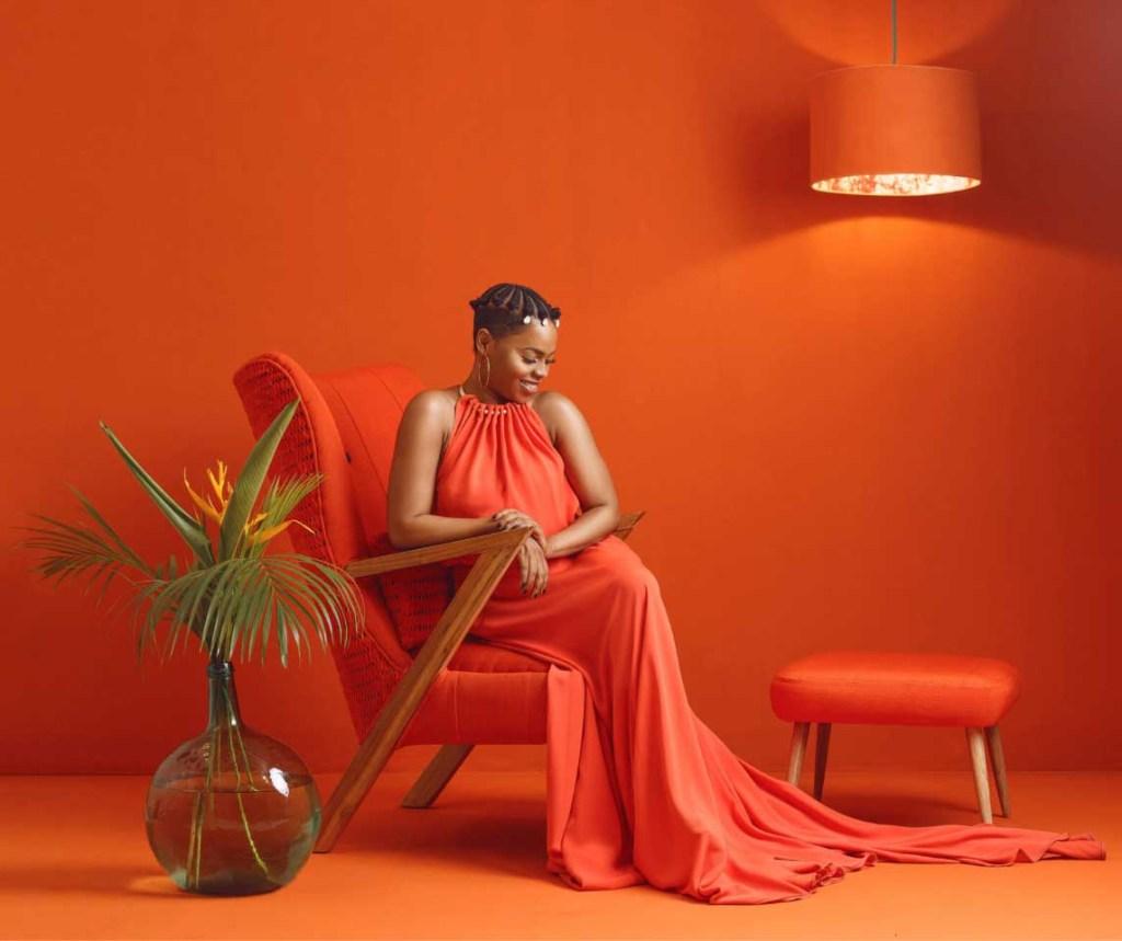 ile ila Adunni Collection red armchair