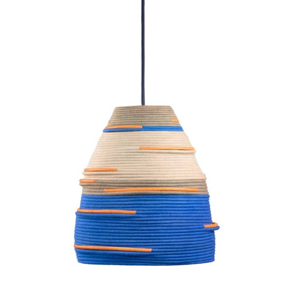 AAKS Oude Blue Woven Lamp Lighting