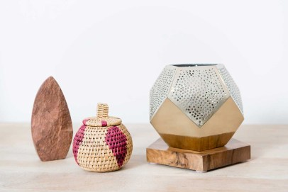 atelier | 55 Dounia Home Ula Lamp, woven baskets decor