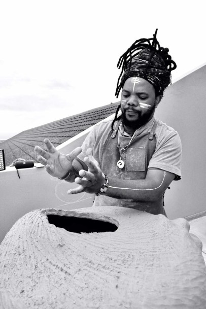 Ceramic artist and clay healer Andile Dyalvane
