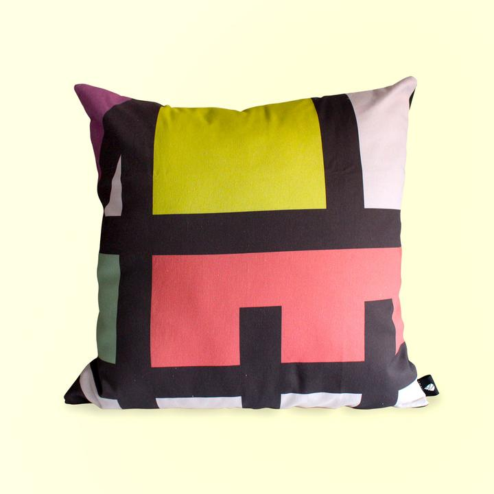 Lulas Clan Colour Blocked Scatter Cushion