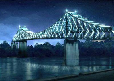 Mise en lumière du pont Jacques-Cartier