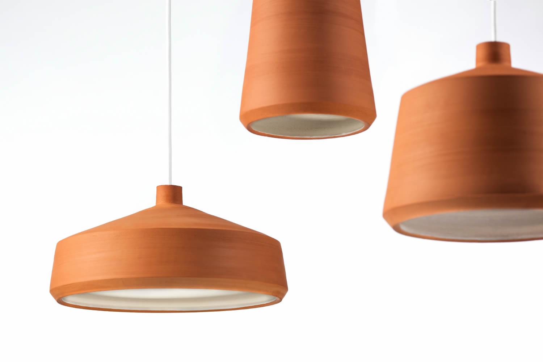 Handgemaakte terracotta lampen