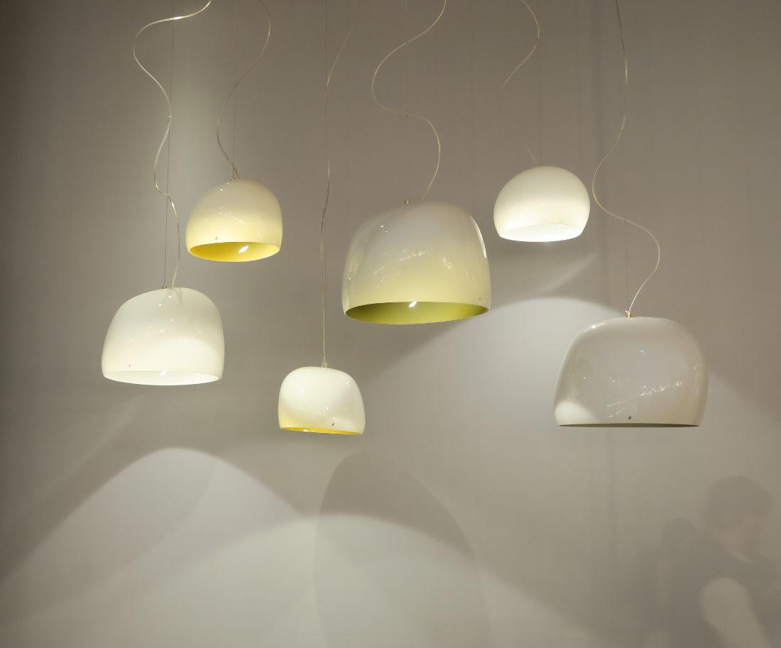 Eetafel hanglampen  aparte glazen lampen