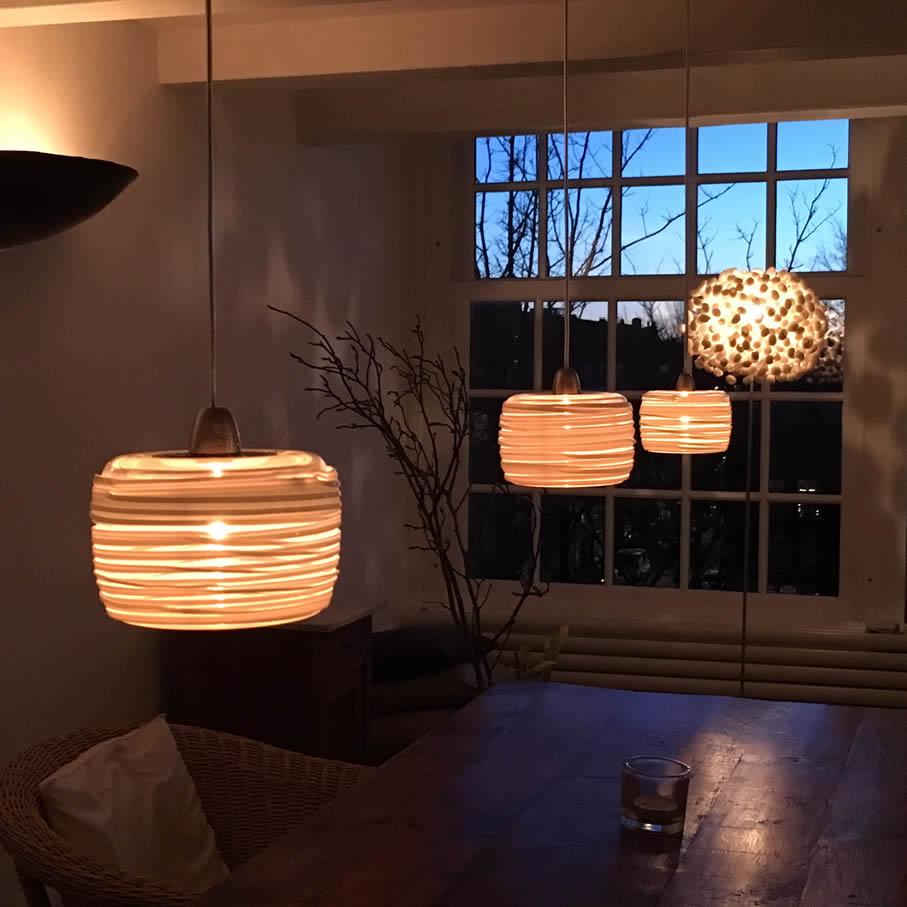 Glazen lampen van kristalglas in diverse maten en uitvoeringen