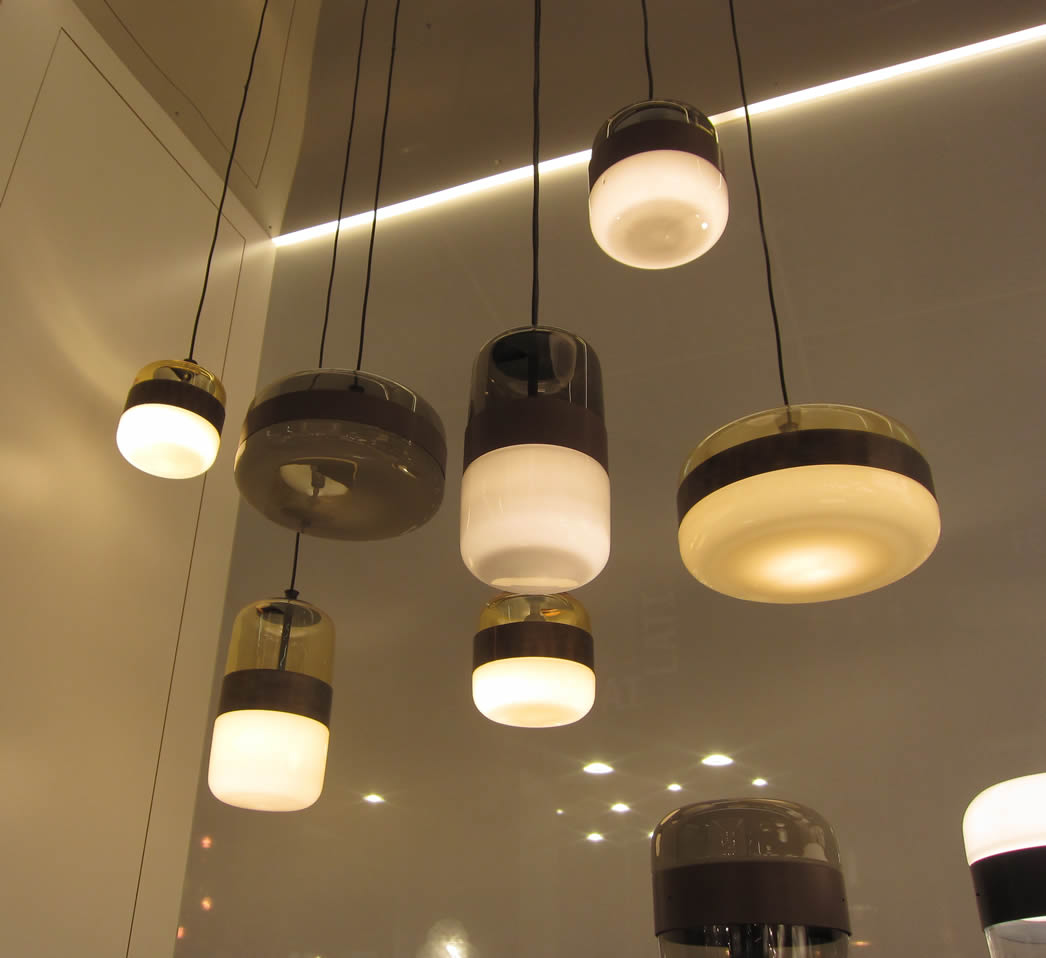 Hanglampen  Glazen design lampen eetafel