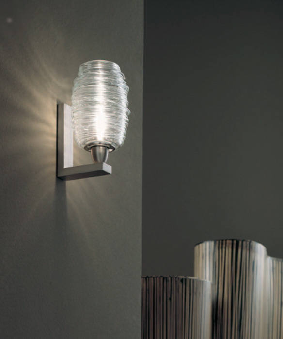 Design wandlampen glas Damasco