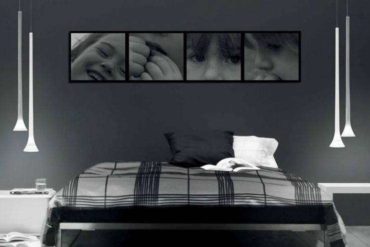 Slaapkamer Grijs Bed