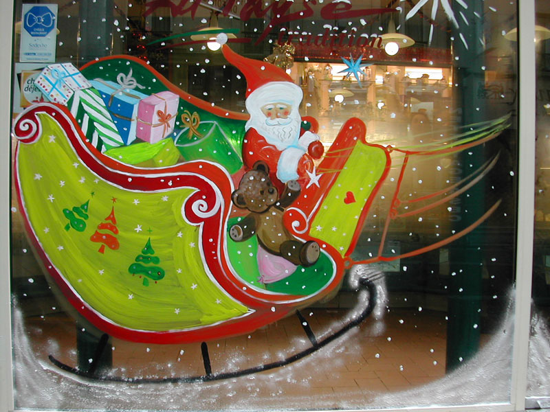 Atelier Alupi Peinture Et Dcoration De Vitrines De Noel