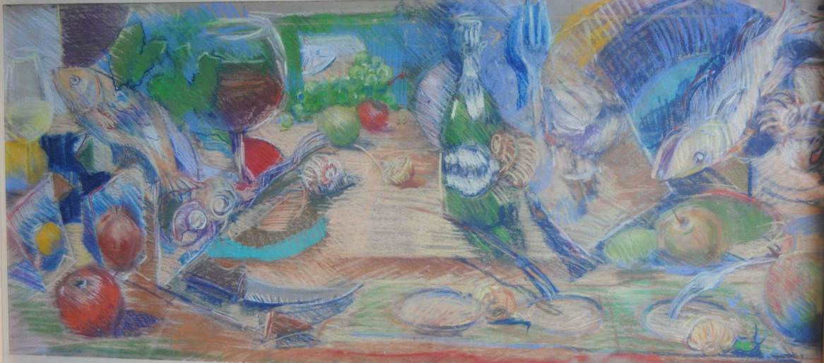 Table Garnie , pastel 125x50