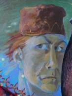 Ausschnitt von dem Gemälde Parimo. der kleine Flötenspieler