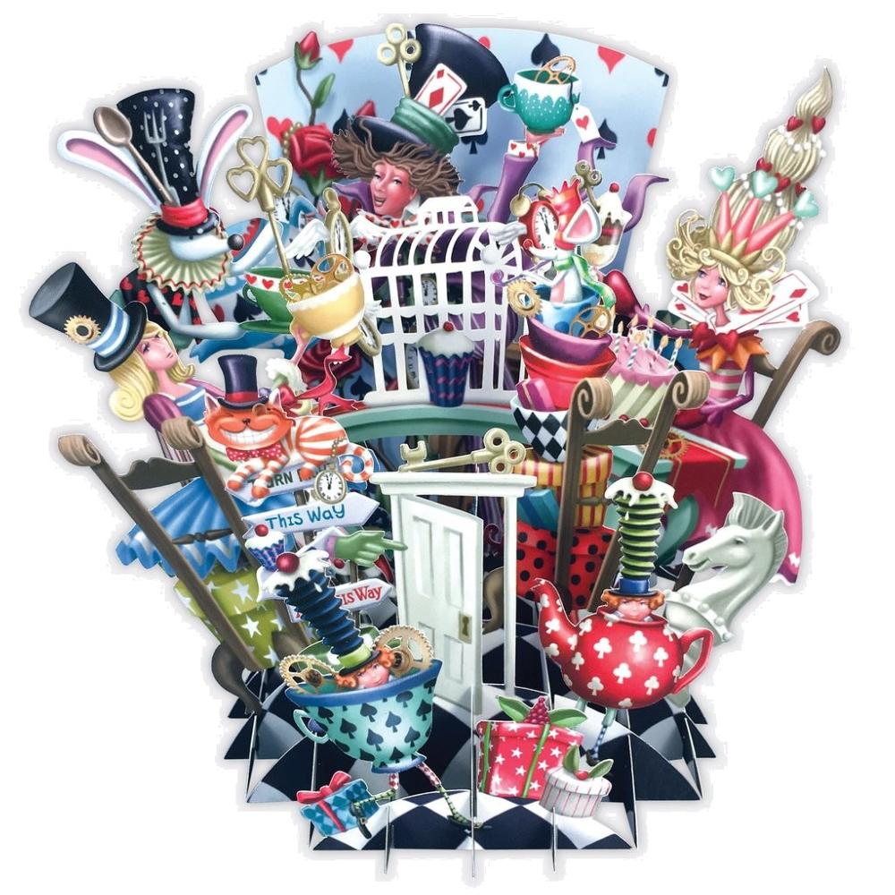 Carte 3d Alice Au Pays Des Merveilles 16x16 Decor Relief