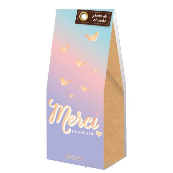 sachet grains de chocolat merci du fond du coeur 70g