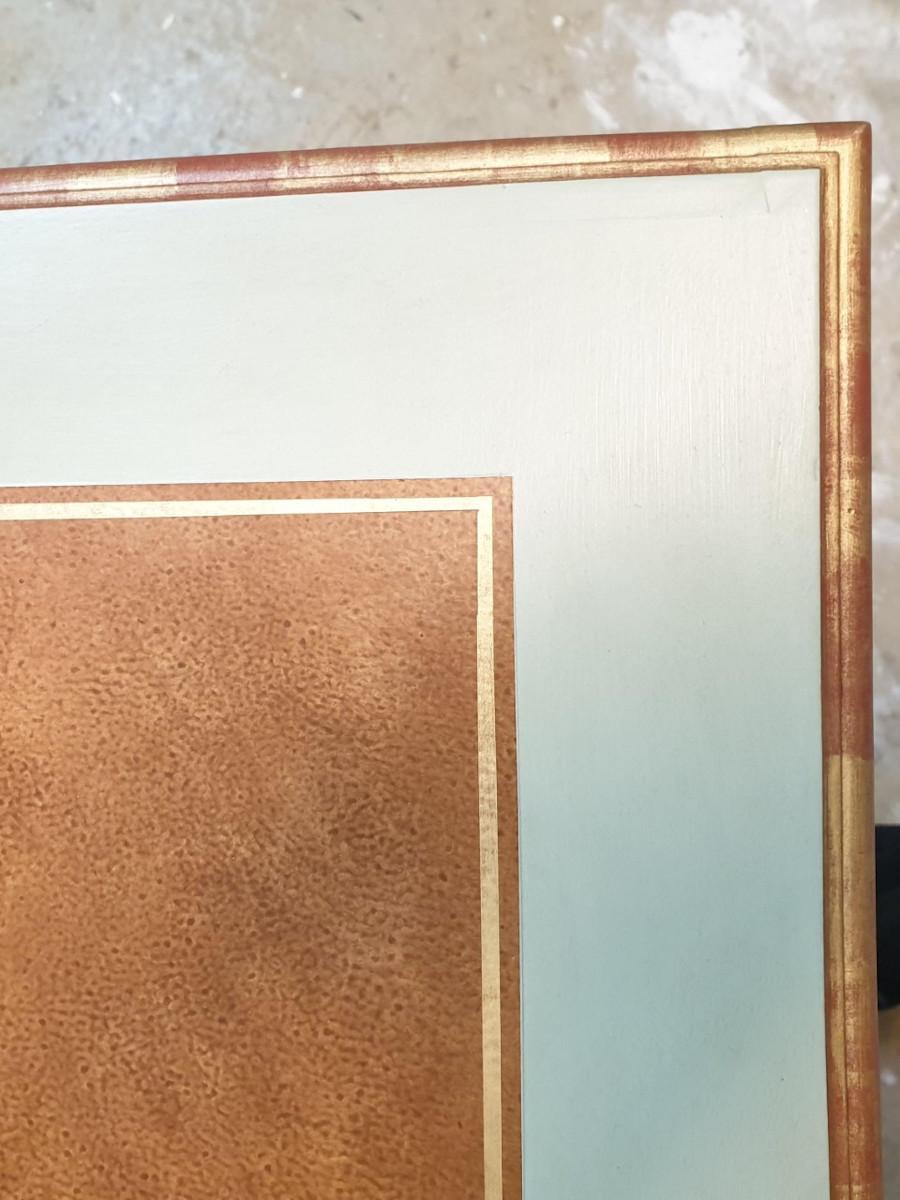décor faux cuir marron