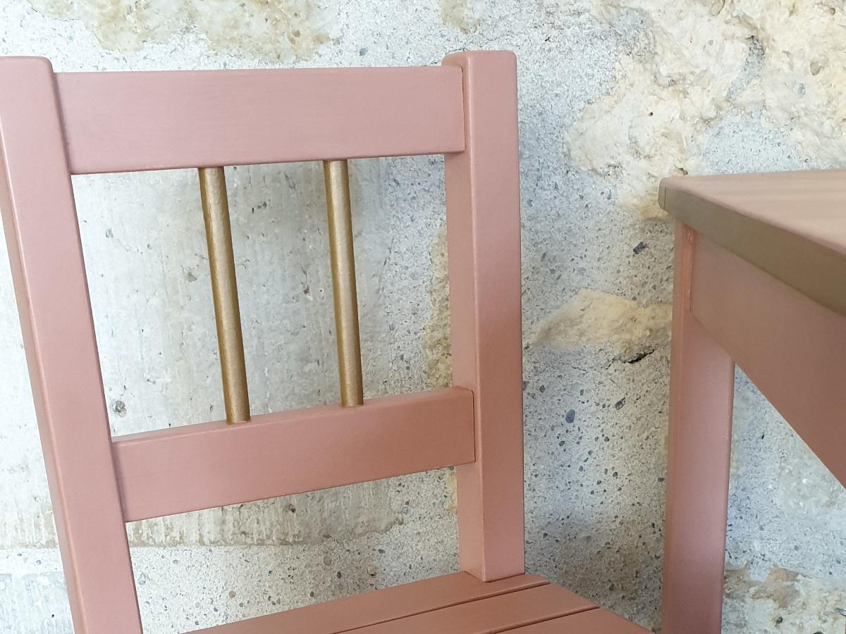détail or sur les chaises