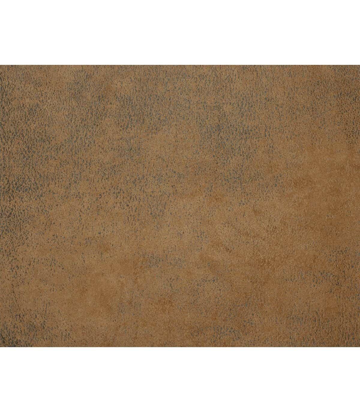 rideau aspect faux cuir use marron