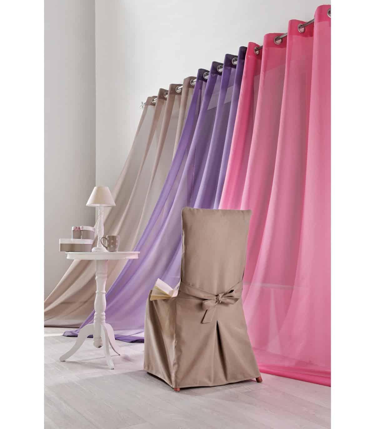voilage rideau uni tres belle couleur