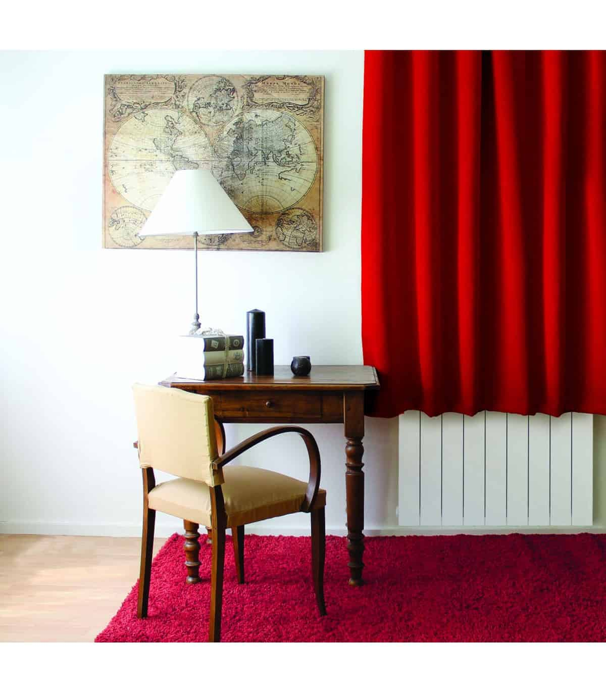 rideau occultant court rouge