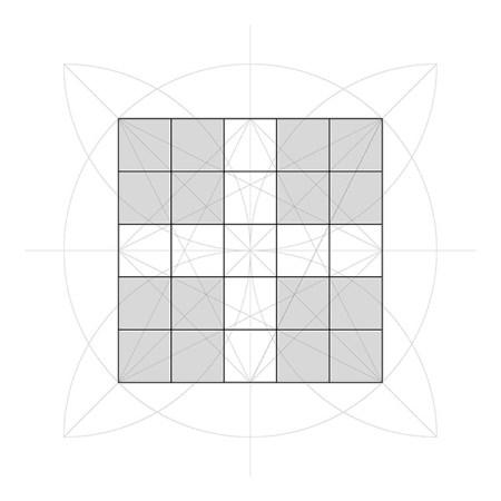 Tracés régulateurs - comment construire une grille de 10