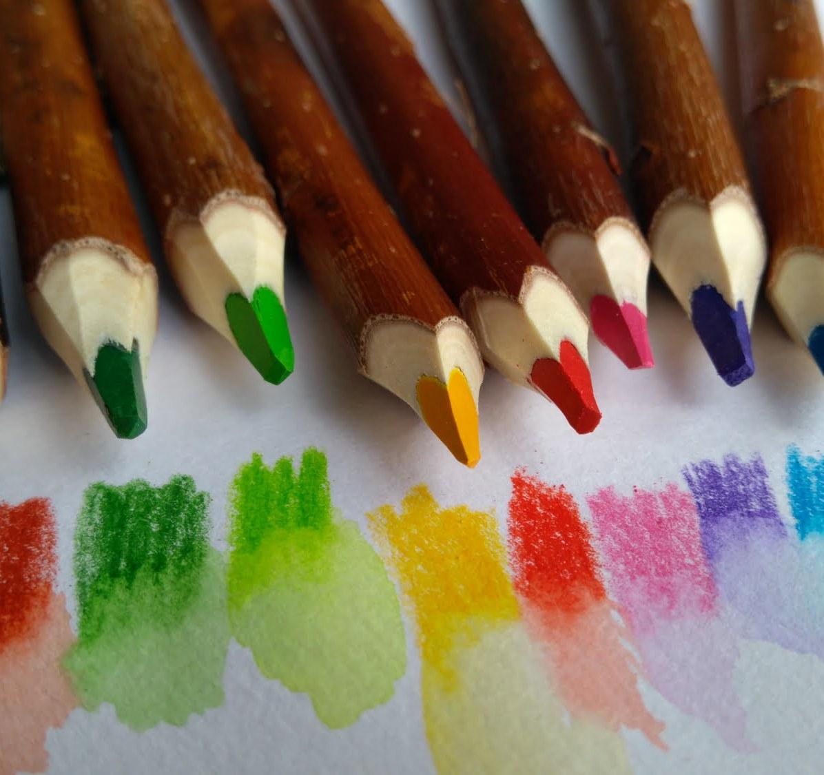 10 crayons aquarellables