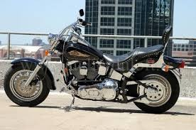 Harley Davidson avec sa poulie