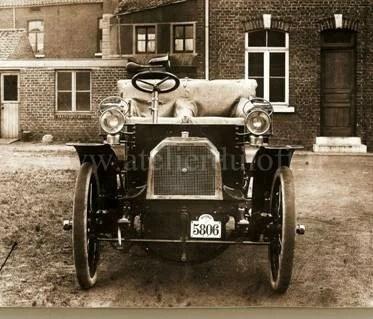 voiture 1903 plaque émaillée industrielle