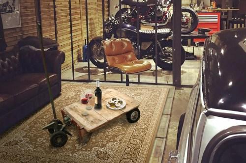Objet déco loft Chariot de garage