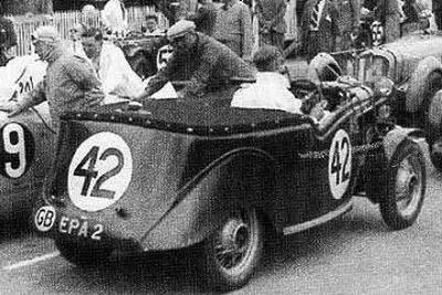 1937 Joan Richemond 14 ème aux 24 heures du Mans sur Ford 10