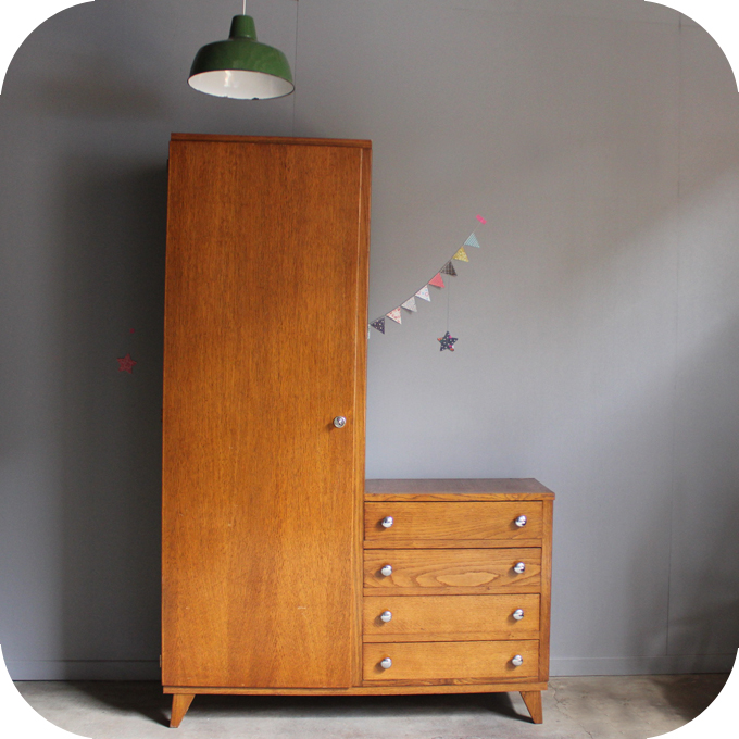 mobilier vintage armoire annees 50