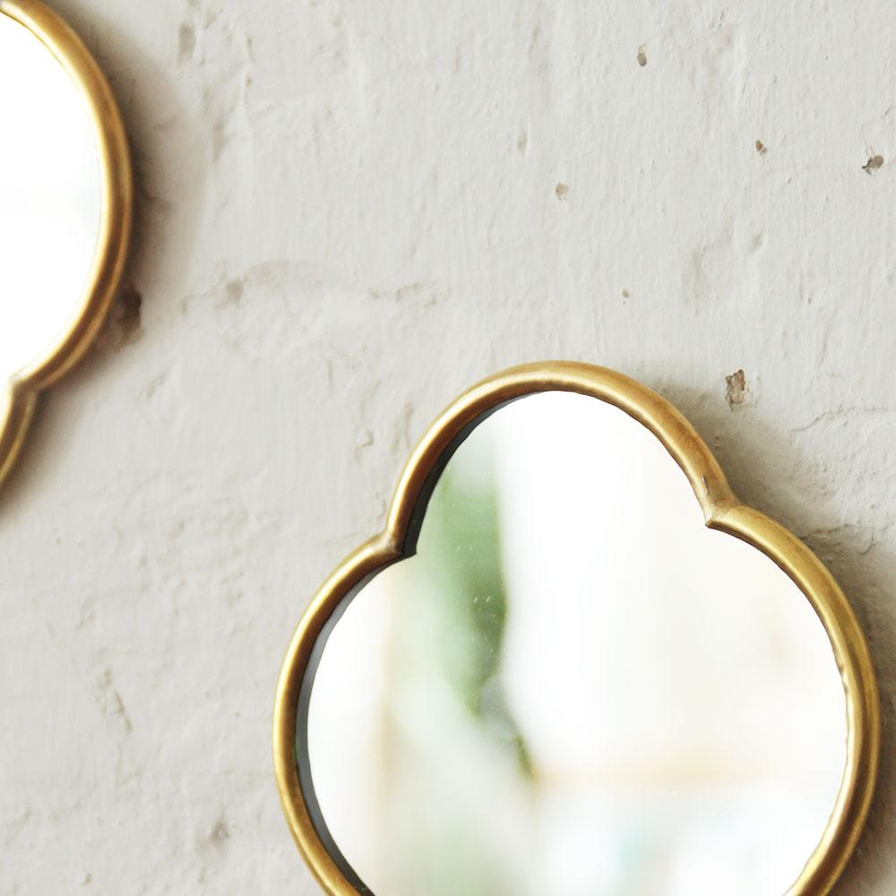 miroir laiton cabochon mini