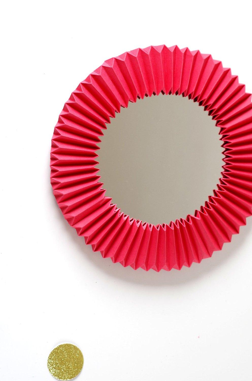 DIY Un cadre En origami pour mon miroir pour un look géométrique (11)