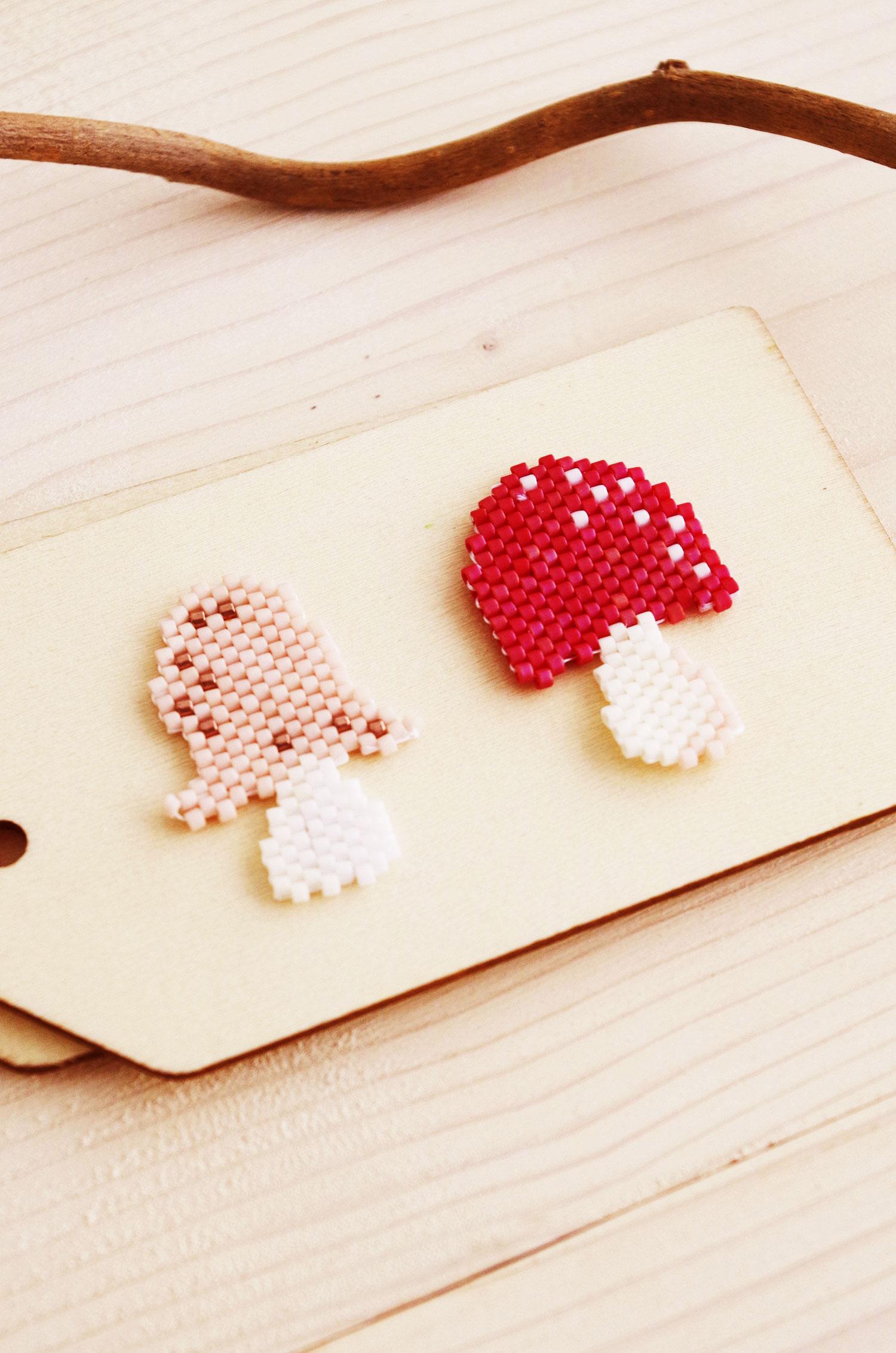 DIY – Mes champignons en Perle Miyuki