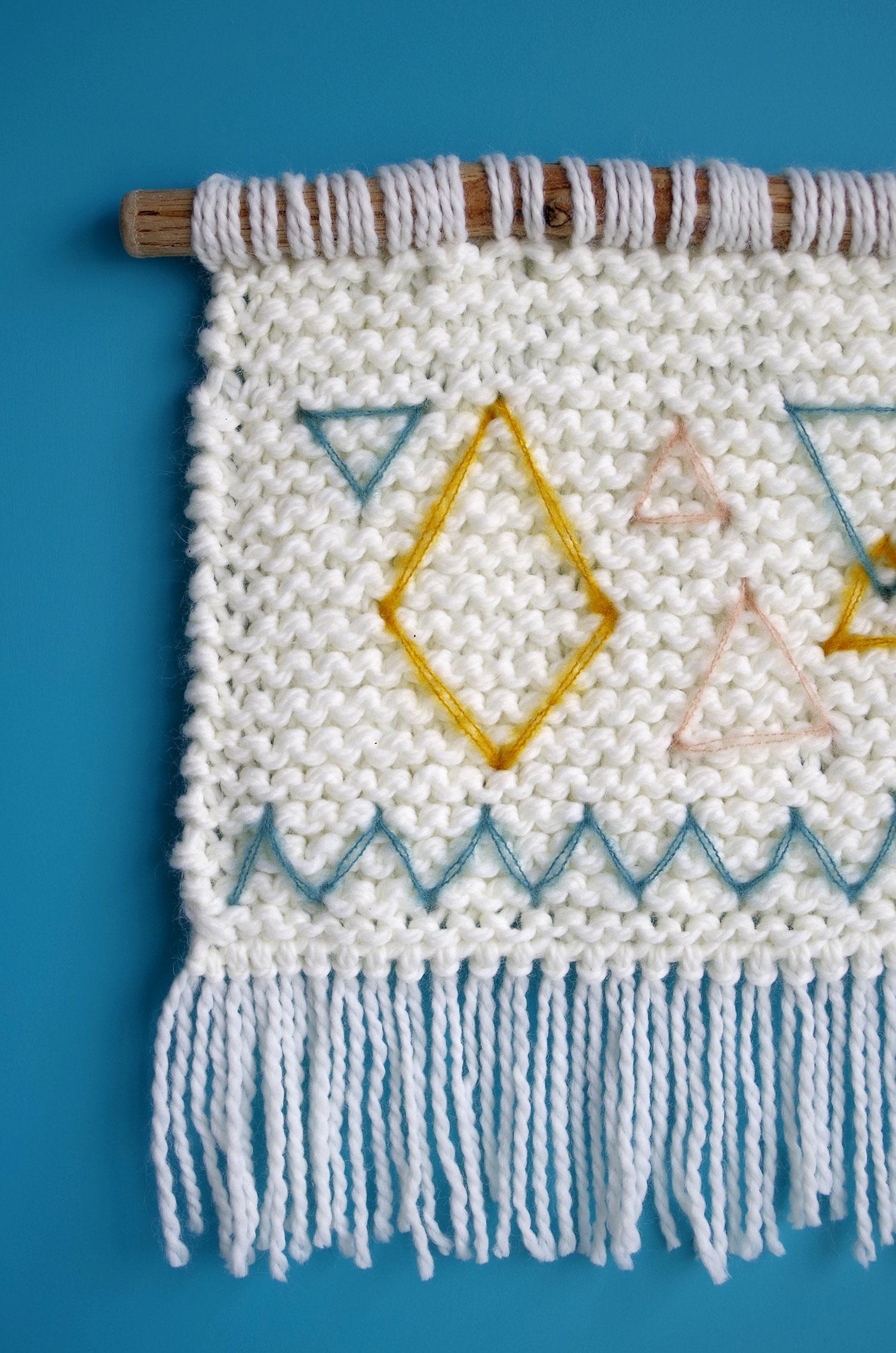 DIY – Ma déco murale en tricot !
