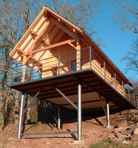 Maison bois sur pilotis  Atelier Hamot
